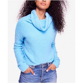 Free People Women Stormy Fuzzy Cowl-Neck Sweater 6890856 QSRAYAE