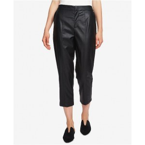 1.STATE Women Faux-Leather Cropped Pants 6572611 WHAQJBT