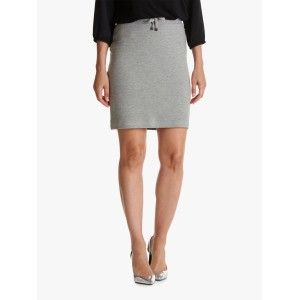 Women Betty Barclay Ribbed Jersey Skirt Middle Silver 51840110 CDNAINF