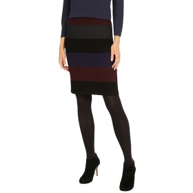 Women Phase Eight Cecelia Tri-Toned Knitted Pencil Skirt Multi 22440184 WTMJGFV